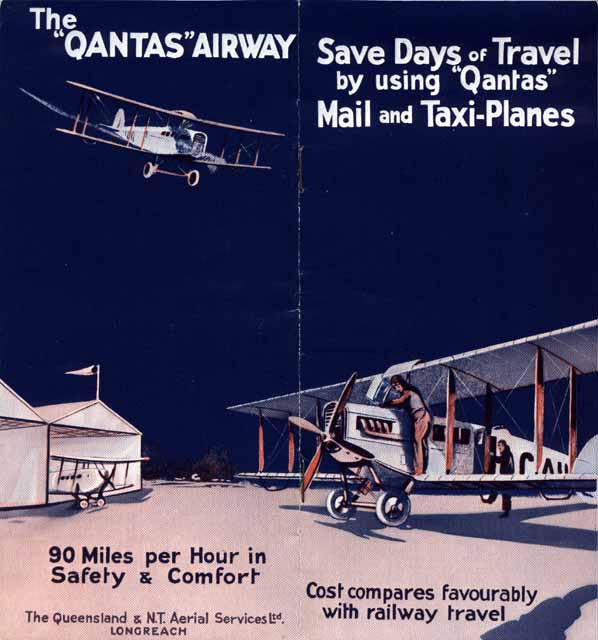"""The """"QANTAS"""" Airway: Save Days of Travel by using """"Qantas"""" Mail and Taxi-Planes"""